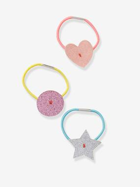 Girls-Accessories-Hair Accessories-Set of 4 Shiny Elastic Hair Bands