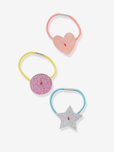 Set of 4 Shiny Elastic Hair Bands NO COLOR - vertbaudet enfant