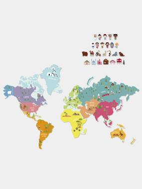 Vertbaudet Collection-Decoration-Magnetic Map Sticker