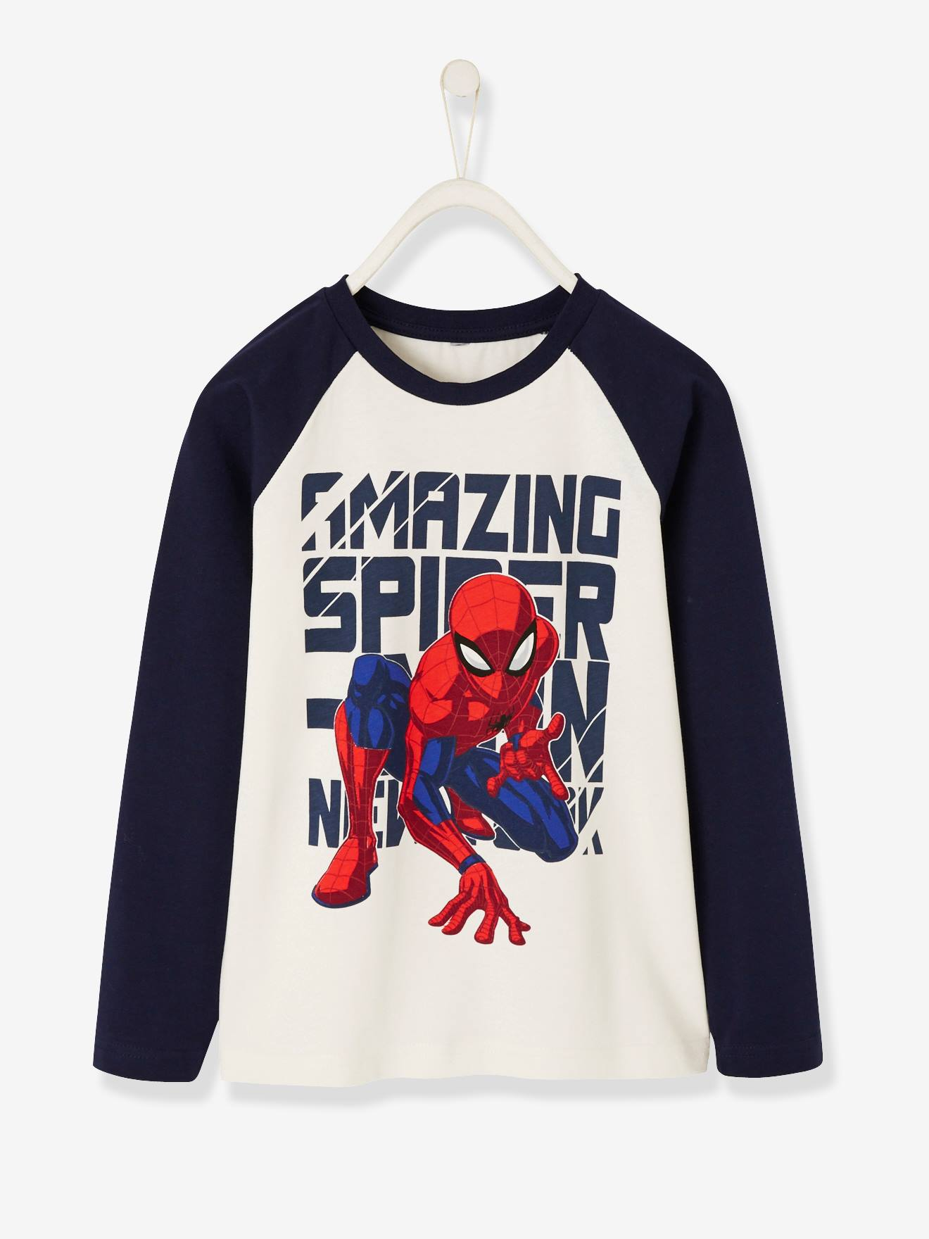 Boys T-Shirt Long Sleeve Marvel The Amazing Spiderman Top Tee 1 to 6 Years