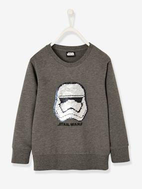 Boys-Cardigans, Jumpers & Sweatshirts-Sweatshirt for Boys, with Reversible Sequins Motif, Star Wars®