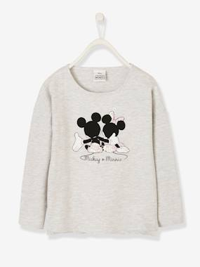 Girls-Tops-Mickey + Minnie® Long-Sleeved Top with Sequins, for Girls