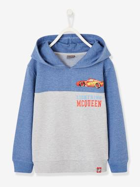 Boys-Cardigans, Jumpers & Sweatshirts-Two-tone Sweatshirt Cars®, with Hood, for Boys