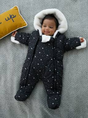Coat & Jacket-Pramsuit with Full-Length Double Opening, for Babies