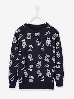 Boys-Cardigans, Jumpers & Sweatshirts-Jumper with Bears, for Boys