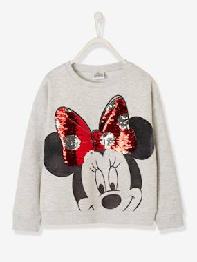 Vertbaudet Collection-Girls-Cardigans, Jumpers & Sweatshirts-Minnie® Sweatshirt with Sequins, for Girls