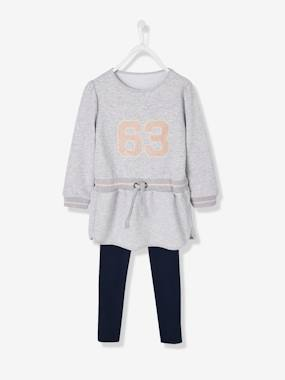 Girls-Sportswear-Sporty Dress + Leggings Outfit for Girls