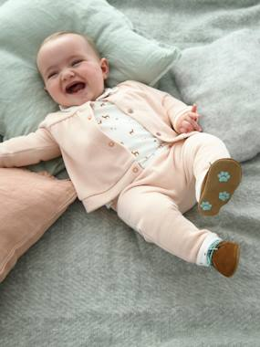 Baby-Outfits-3-Piece Ensemble for Newborn Babies, Fleece Cardigan + Trousers + Shirt Bodysuit