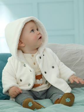 Baby-Jumpers, Cardigans & Sweaters-Corduroy Coat for Newborn Babies