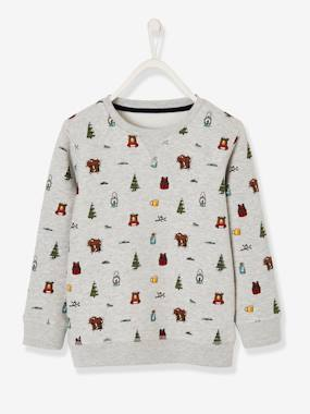 Boys-Cardigans, Jumpers & Sweatshirts-Sweatshirt with Motifs, for Boys