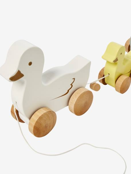 Pull-Along Duck Family GREY MEDIUM SOLID WITH DESIGN - vertbaudet enfant