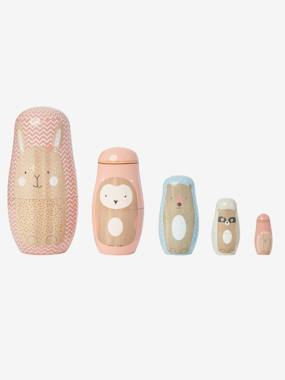 Toys-Baby's First Toys-Wooden Animal Nesting Dolls