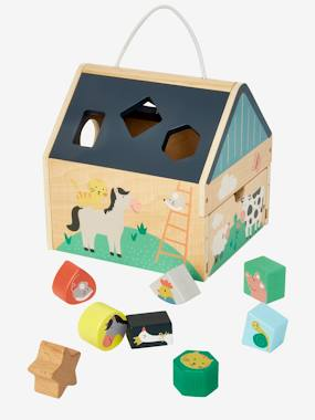 Toys-House with Wooden Shapes