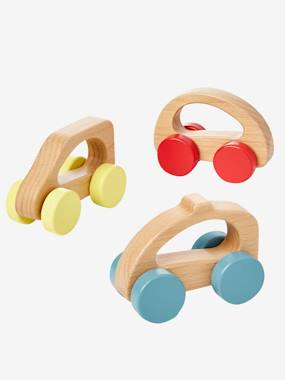 Toys-Baby's First Toys-Set of 3 Wooden Cars