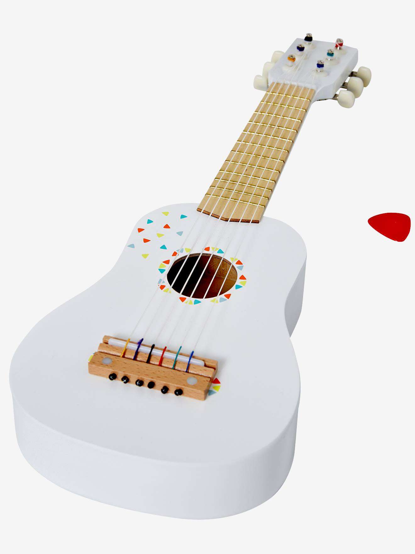 guitar wall decor.htm wooden guitar white medium solid with design  toys  wooden guitar white medium solid with