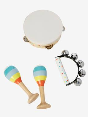 Toys-Set of Maracas, Tambourine, Tambourine with Rattles