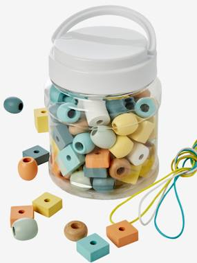 Toys-Bucket with Large Wooden Beads Mix