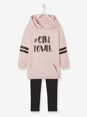 Girls-Sportswear-Dress with Hood + Leggings Combo