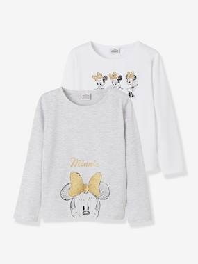 Girls-Underwear-Pack of 2 Minnie® Tops with Glittery Prints for Girls