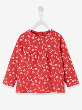Vertbaudet Collection-Baby-Printed Top for Baby Girls