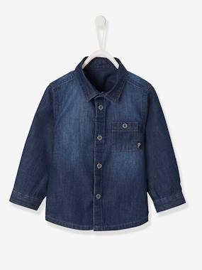 Baby-Blouses & Shirts-Denim Shirt for Baby Boys