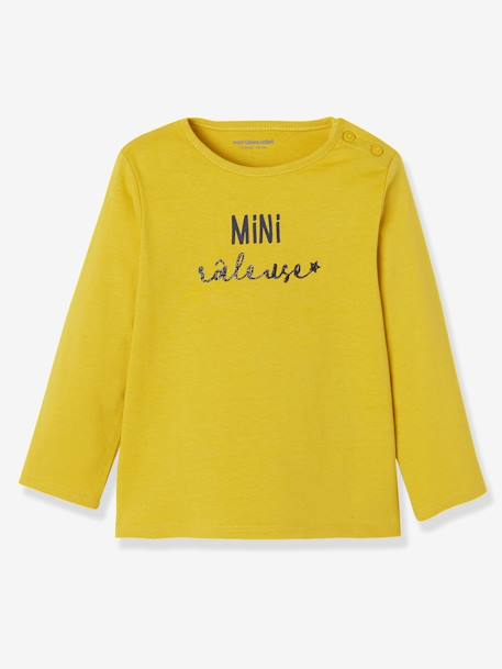 Pack of 2 Long-Sleeved Tops, for Baby Girls YELLOW MEDIUM 2 COLOR/MULTICOL - vertbaudet enfant