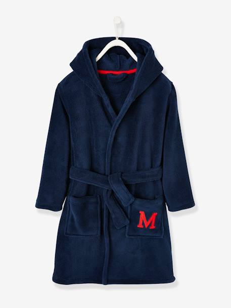 Dressing Gown for Boys, Mickey Mouse® by Disney - blue dark solid with  design, Boys