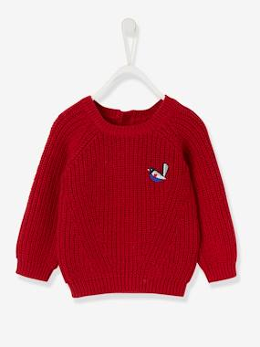 Baby-Jumpers, Cardigans & Sweaters-Rib Knit Jumper for Baby Girls