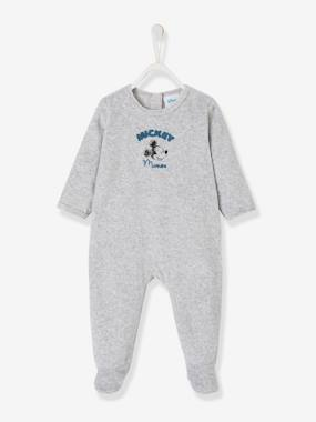 pyjama-Baby-Mickey® Velour Sleepsuit, for Babies