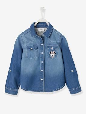 Girls-Blouses, Shirts & Tunics-Minnie® Denim Shirt for Girls