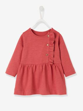 Baby-Dresses & Skirts-Slub Fleece Dress for Baby Girls