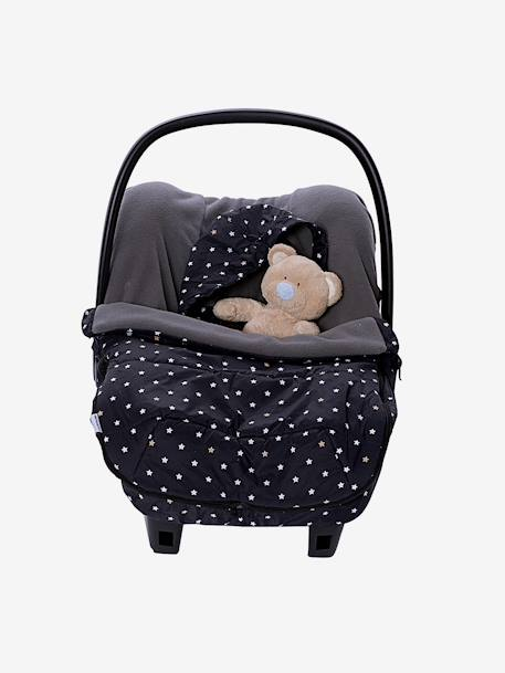 Printed Puffer-Style Footmuff for Car Seats Printed black - vertbaudet enfant