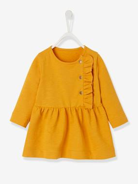 Vertbaudet Collection-Baby-Dresses & Skirts-Slub Fleece Dress for Baby Girls