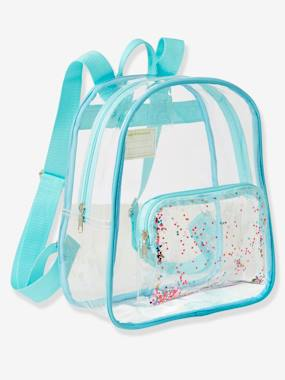 Girls-Accessories-Bags-Clear Glittery Backpack, for Girls