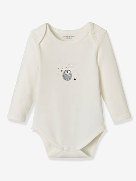 Pack of 5 Long-Sleeved Bodysuits for Babies, in Pure Cotton BLUE DARK TWO COLOR/MULTICOL+PINK LIGHT 2 COLOR/MULTICOL R - vertbaudet enfant