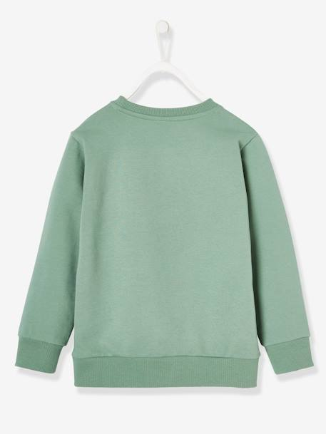 Sweatshirt for Boys, Mickey® by Disney GREEN MEDIUM SOLID WITH DESIG - vertbaudet enfant