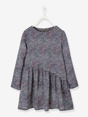 Vertbaudet Collection-Girls-Dresses-Printed Asymmetric Dress, for Girls