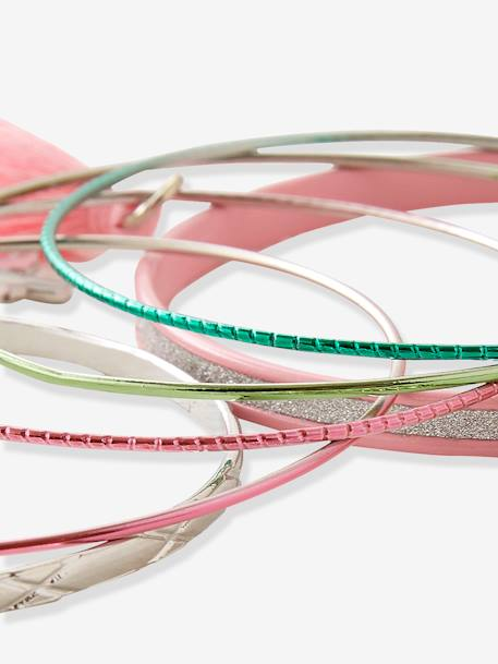 Set of Metal Bracelets PINK MEDIUM 2 COLOR/MULTICOL - vertbaudet enfant