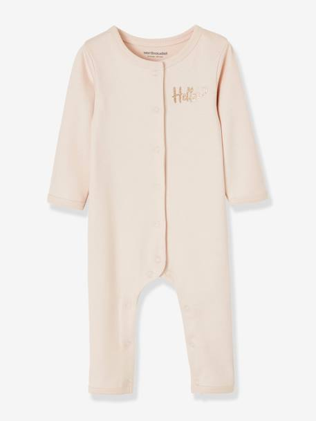 Pack of 2 Footed Bodysuits BLUE MEDIUM TWO COLOR/MULTICOL+PINK MEDIUM 2 COLOR/MULTICOL - vertbaudet enfant