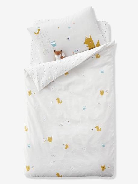 Duvet Cover for Babies, DANS LES NUAGES GREY MEDIUM  ALL OVER PRINTED - vertbaudet enfant