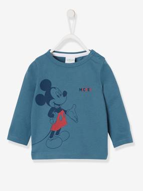 Baby-T-shirts & Roll Neck T-Shirts-Long-Sleeved Mickey® Top, for Boys, by Disney