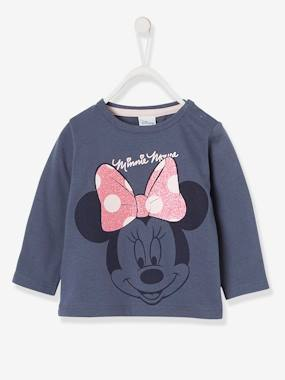 Baby-T-shirts & Roll Neck T-Shirts-Long-Sleeved Minnie® Top with Sequins, for Girls