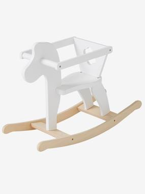 Toys-Dolls & Accessories-Wooden Rocking Horse for Doll