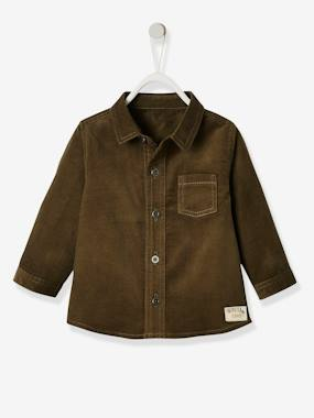 Baby-Blouses & Shirts-Corduroy Shirt for Baby Boys