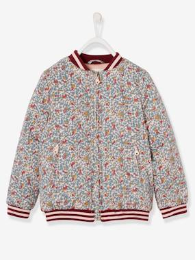 Vertbaudet Collection-Girls-Coats & Jackets-Printed Bomber Jacket, for Girls