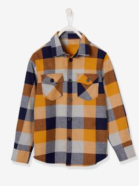 Boys-Shirts-Checked Flannel Shirt, for Boys