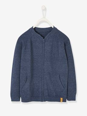 Boys-Cardigans, Jumpers & Sweatshirts-College-type Jacket with Zip, for Boys