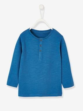 Vertbaudet Basics-Baby-Grandad-Style Long-Sleeved Top for Baby Boys
