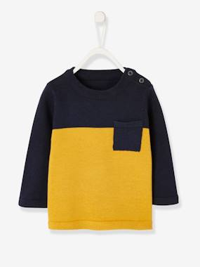 Baby-Two-Tone Jumper for Baby Boys