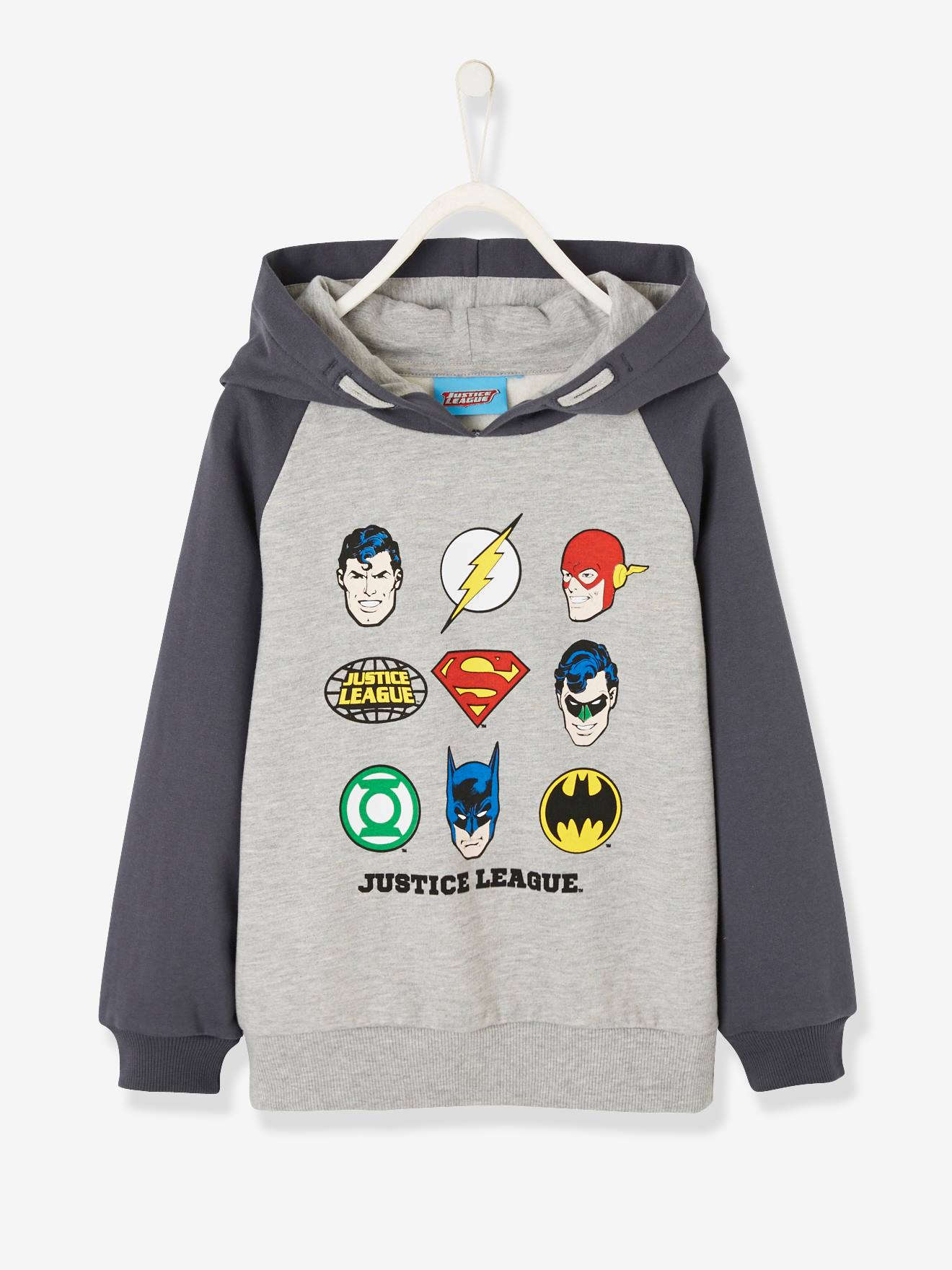 superman nursery decor.htm two tone sweatshirt with hood  for boys  justice league   grey  two tone sweatshirt with hood  for boys